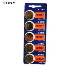 Sony ถ่านกระดุม Sony Cr2032 Lithium 3v(1 แพ็ค 5 ก้อน)  .