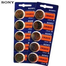 Sony ถ่านกระดุม SONY CR2032 Lithium 3V(2 แพ็ค 10 ก้อน)