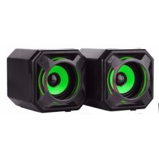 ราคา ลำโพง คอมเสียงสเตริโอ Speaker Gearmaster Gms 021 Green Level ใหม่ล่าสุด