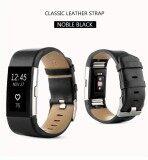 ขาย Sports Genuine Leather Watch Band Strap For Fitbit Charge 2 Wrist Band Bracelet Intl ออนไลน์ ใน จีน