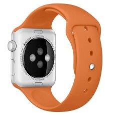 ขาย Sports Silicone Bracelet Strap Band For Apple Watch 42Mm Orange Intl เป็นต้นฉบับ