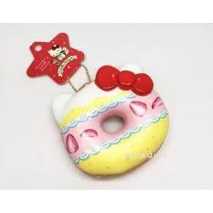 Squishy Donut Kt Strawberry สกุชชี่โดนทัสตอเบอร์รี่สีขาว ใหม่ล่าสุด