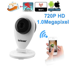 ราคา Sricam H 264 Wifi Ip Camera With 720P Megapixel Wireless Cctv Security Tf Slot Uk Plug White ใหม่