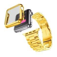 ส่วนลด สินค้า สายคล้องคอสร้อยข้อมือสแตนเลส กรณีสำหรับ Apple Watch Series 2 42 มิลลิเมตร Gd