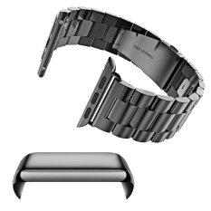 ซื้อ สแตนเลสสตีลแทนสายนาฬิกาสายคล้องคอชุด Pc เคลือบป้องกันรอยขีดข่วนเชลล์ด้วยกันชนสำหรับ Apple นาฬิกา Iwatch 42 มิลลิเมตรสีดำ ใน จีน