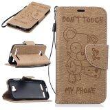 Stand Wallet Purse Credit Card Id Holders Magnetic Flip Folio Tpu Soft Bumper Pu Leather Ultra Slim Fit Case Cover For Huawei Y3 Ii Intl เป็นต้นฉบับ