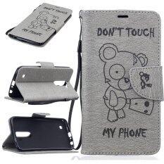 ส่วนลด Stand Wallet Purse Credit Card Id Holders Magnetic Flip Folio Tpu Soft Bumper Pu Leather Ultra Slim Fit Case Cover For Lg K10 Intl จีน