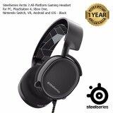 โปรโมชั่น Steelseries Arctis 3 Gaming Headset With 7 1 Surround For Pc Playstation 4 Xbox One Vr Android And Ios Black ใน ระยอง