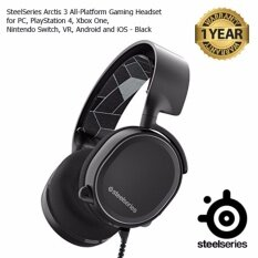 SteelSeries Arctis 3 Gaming Headset with 7.1 Surround for PC, PlayStation 4, Xbox One, VR, Android and iOS - Black