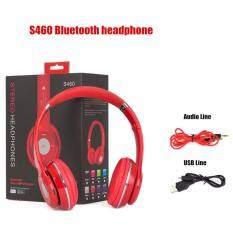 Stereo Wireless Bluetooth Headphone หูฟังบลูทูธ หูฟังไร้สาย หูฟังไอโฟน รุ่น S460 (สีแดง)