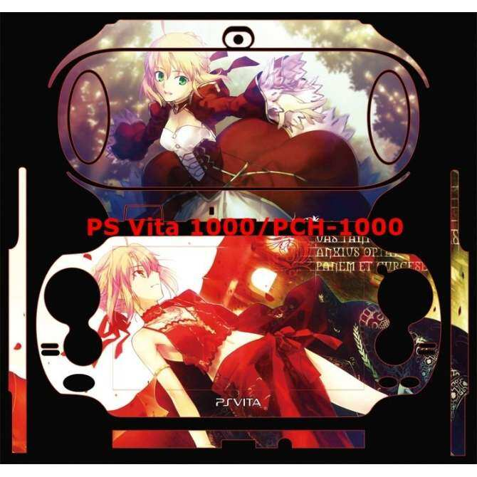 Sticker skin pain decal anime for PlayStation vita 1000 PSV1000 sabor 02 - Intl