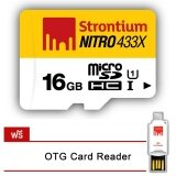 ซื้อ Strontium 16Gb Nitro Microsd W Free Otg Card Reader Srn16Gtfu1T Strontium ถูก