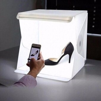 StudiO BoX Light Box Studio 30 cm กล่องถ่ายรูป ฉากถ่ายรูป ถ่ายรูปสินค้า สตูดิโอพกพา ถ่ายภาพ พร้อมด้วย backdrops [Lightbox] ขนาด 30cm