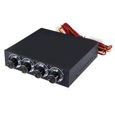 ขาย ซื้อ Stw 5 25 Inch Brushed Aluminum 4 Channels Fan Speed Temperature Controller With Blue Light จีน