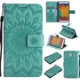 ราคา Sunflower Pattern Pu Leather Wallet Stand Flip Case Cover For Samsung Galaxy Note 3 Case Intl ออนไลน์