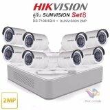 ขาย เครื่องบันทึก Hikvision พร้อมกล้อง 8 ตัว Ds 7108Hqhi F1 Sunvision Sc 115D0Ir X 8 Hikvision เป็นต้นฉบับ