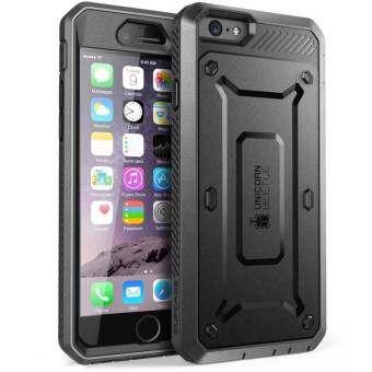 SUPCASE ด้วงยูนิคอร์นเคสมือถือกันรอยเคสพีซี + TPU เคสโทรศัพท์ไฮบริดสำหรับ iPhone 6 วินาที 6 - สีดำ - INTL
