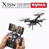 Syma โดรน4ใบพัด บินถ่ายภาพ ส่งภาพเข้ามือถือผ่าน Wifi Model X5Sw With Wifi Fpv Hd Camera 2 4G 4Ch 6Axis Headless Mode Rc Quadcopter Black กรุงเทพมหานคร