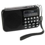T508 Mini Portable Led Stereo Fm Radio Speaker Usb Tf Card Mp3 Music Player Black ใหม่ล่าสุด
