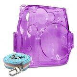 ขาย Takashi Protective Crystal Plastic Case With Strap For Fujifilm Instax Mini 8 Instant Camera Purple ราคาถูกที่สุด