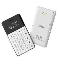 Talkase T3โทรศัพท์ขนาดเท่าบัตรเครดิต (สีขาว)