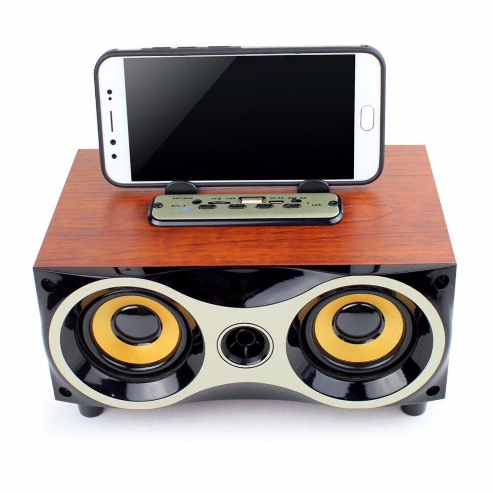 ลดราคา ถูกที่สุด ลำโพงแบบพกพา Telecorsa Telecorsa Wireless speaker 6series  ลำโพงบลูทูธ ลายไม้  รุ่น WoodenSpeaker18C มีรับประกัน