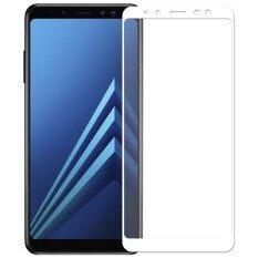 ฟิล์มกระจกซัมซุง Tempered Glass Screen Protector For Samsung Galaxy A8 Plus 2018 เต็มจอ สีขาว ใหม่ล่าสุด