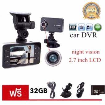 tesia Car Camera กล้องติดรถยนต์ ในรถ K6000 Dvr Car DVR Night Vision Car Camera Recorder 2.7