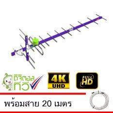 ส่วนลด Thaisat Antenna รุ่น Wing 14E เสาอากาศทีวีดิจิตอล พร้อมสาย 20 เมตร Thaisat ใน ไทย