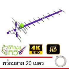 ราคา Thaisat Antenna รุ่น Wing 14E เสาอากาศทีวีดิจิตอล พร้อมสาย 20 เมตร Thaisat เป็นต้นฉบับ