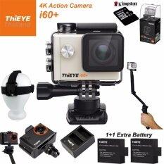 ThiEYE i60+ 4K 12Mpเมนูไทย+Kingston32+BATT+Charger+3Way+Head Strap+Frame Mount