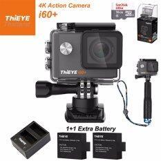 ThiEYE i60+ 4K 12Mpเมนูไทย+Sandisk16+BATT+Charger+TMC Blue