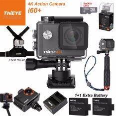 ThiEYE i60+ 4K 12Mpเมนูไทย+Sandisk16+BATT+Charger+TMC Red+Chest Mount+Frame Mount
