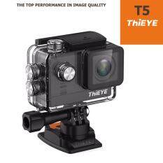 ThiEYE T5 ภาษาไทย WiFi Action Camera 4K Video Ambarella A12S Processor & Sony IMX117 Sensor 16MP 170 Degrees Lens Sport Camera (Black)