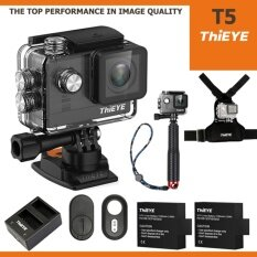 ThiEYE T5 UHD 4K 16Mp เมนูไทย Ambarella A12, Sony IMX117+BATT+Charger+TMC Red+Chest Mount+Remote Bluetooth