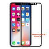 ขาย ซื้อ ออนไลน์ Tib Jdo ฟิลม์ 5D Iphone X Tempered Glass Film Protector Case For Apple Iphone X Black