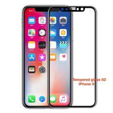 Tib Jdo ฟิลม์ 5D Iphone X Tempered Glass Film Protector Case For Apple Iphone X Black เป็นต้นฉบับ