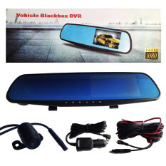 ขาย Took Tee Sood กล้องติดรถยนต์แบบกระจกมองหลังพร้อมกล้องติดท้ายรถกันน้ำ Sst Vehicle Black Box Dvr Fhd1080P สีดำ Black Box เป็นต้นฉบับ