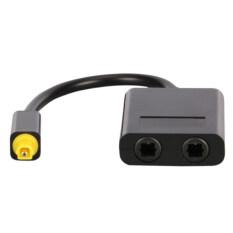 ซื้อ Toslink Gold Plated Digital Audio Optical Splitter 1 In 2 Out Adapter Cable Black ถูก ใน แองโกลา