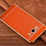 ความคิดเห็น Tpu ชุบเลียนแบบหนัง Litchi Grain สำหรับ Samsung Galaxy J7 2015 J700