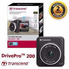 Transcend Dashcam DrivePro 200 + Free Card Memory 16 GB Inside