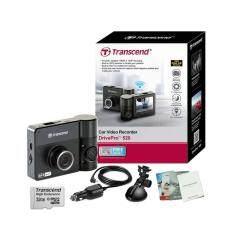 Transcend DrivePro 520 Dual Lens Full HD WiFi GPS (Black) กล้องติดรถยนต์ 2กล้อง หน้า-หลัง + Transcend Memory MicroSD/HC UHS-I 600X Class10 32GB.+ขาติดกระจกรถสูญญากาศ+สายชาร์จในรถยาว 3เมตร+คู่มือการใช้งาน