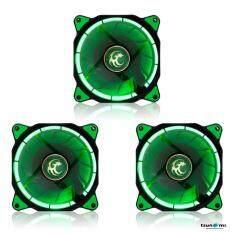 Tsunami Air Series AL-120 LED Halo Light Edition Fan GreenX3