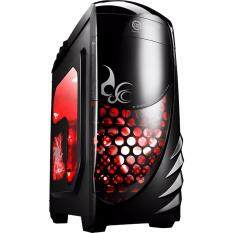 Tsunami City Hunter London Series 3 x LED Fan Gaming Case (BLACK&RED)