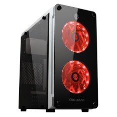 Tsunami Coolman Crystal Micro-ATX Gaming Case Double Ring Led Fan WR