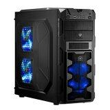 Tsunami Megatron X2 Series Usb 3 Gaming Case With 3 X Led Fan Black Blue ใน กรุงเทพมหานคร