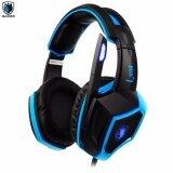 ขาย ซื้อ Tsunami Sades Luna Sa 968International Exclusive Edition 7 1 Surround Sound Stereo Usb Wired Pc Gaming Headset With Microphone Blue Power By Funrepublic