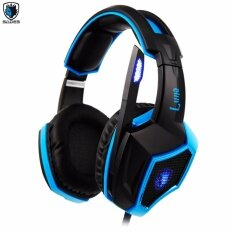 Tsunami SADES LUNA SA-968International Exclusive Edition 7.1 Surround Sound Stereo USB Wired PC Gaming Headset with Microphone (BLUE) Power By FunRepublic