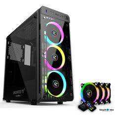 Tsunami Unlimited Series T7+ Gaming Case Remote Version With Circle Rgb Cooling Fan X3 By Fun Republic Co.,ltd..