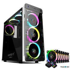 Tsunami Unlimited Series T7+ Gaming Case remote version with Circle RGB Cooling fan X7